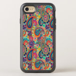 "Bright Rainbow Paisley OtterBox Symmetry iPhone 8/7 Case<br><div class=""desc"">You will love our with this bright,  colorful hand-drawn paisley pattern in all the colors of the rainbow. Orange,  red and blue tones are highlighted with uplifting mint green,  pink,  and black.</div>"