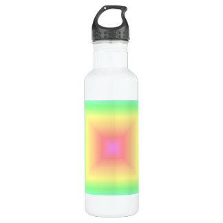 Bright Rainbow Pastel Abstract Pattern Blur Stainless Steel Water Bottle