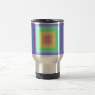 Bright Rainbow Pastel Abstract Pattern Blur Travel Mug