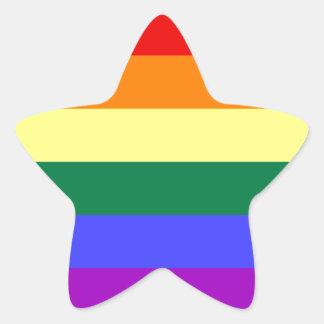 Bright rainbow pattern. star sticker