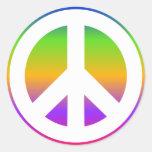 Bright Rainbow Peace Sign Sticker