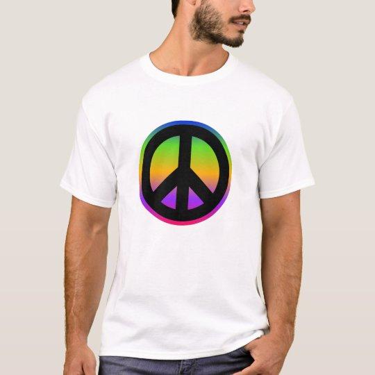 Bright Rainbow Peace Symbol T-Shirt