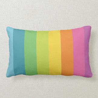 Bright rainbow striped stripes custom pillow