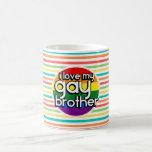 Bright Rainbow Stripes; Gay Brother Coffee Mug