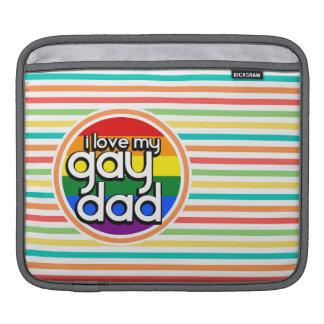 Bright Rainbow Stripes, Gay Dad iPad Sleeve