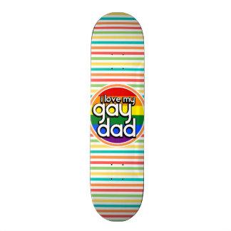 Bright Rainbow Stripes Gay Dad Skate Board Decks