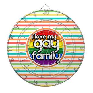 Bright Rainbow Stripes, Gay Family Dart Board