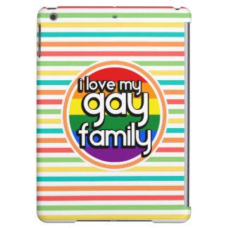 Bright Rainbow Stripes, Gay Family iPad Air Cases