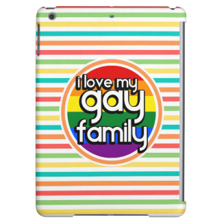 Bright Rainbow Stripes, Gay Family iPad Air Cover