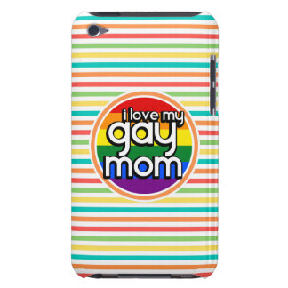 Bright Rainbow Stripes Gay Mom iPod Touch Case