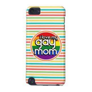 Bright Rainbow Stripes Gay Mom iPod Touch 5G Case