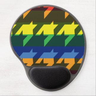Bright Rainbow Stripes Gel Mouse Pad