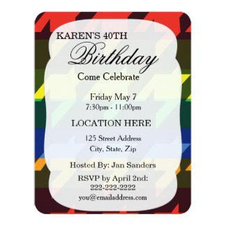 Bright Rainbow Stripes 4.25x5.5 Paper Invitation Card
