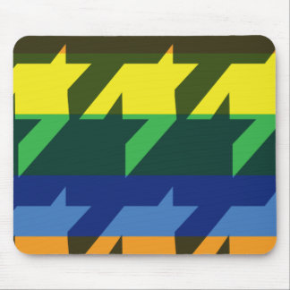Bright Rainbow Stripes Mouse Pad