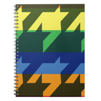 Bright Rainbow Stripes Notebook