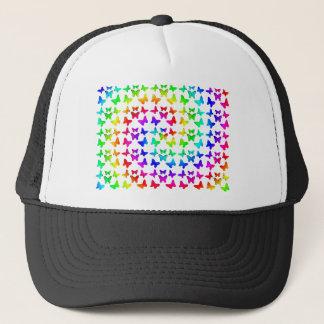Bright Rainbow Swirl Butterflies Trucker Hat