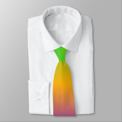 Bright Rainbow Tie tie
