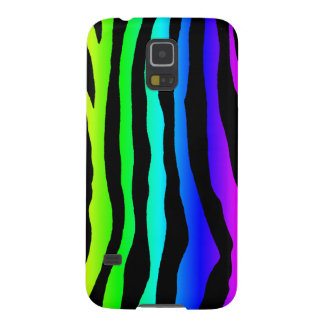 Bright Rainbow Zebra Stripes Cases For Galaxy S5