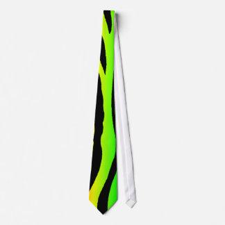 Bright Rainbow Zebra Stripes Neck Tie