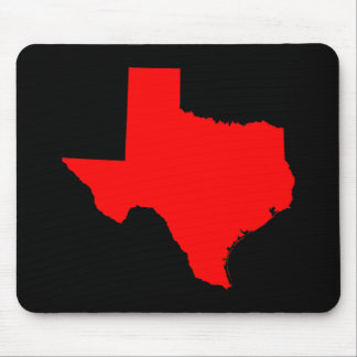 Bright Red and Black Texas Mouse Pad