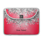Bright red and faux glitter sleeve for MacBook pro