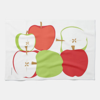 Bright Red and Green Apples Tea Towel