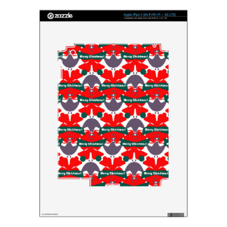 Bright Red and Green Design Skin For iPad 3