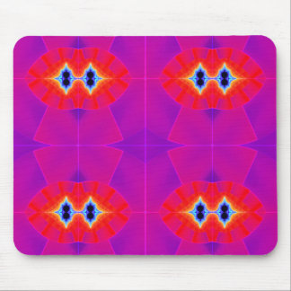 Bright Red and Purple Mouse Pad