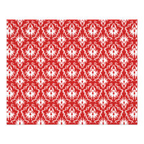 Bright Red and White Damask Pattern. Flyer
