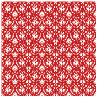 Bright Red and White Damask Pattern. Statuette