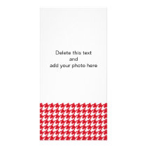 Bright Red and White Houndstooth Pattern Card