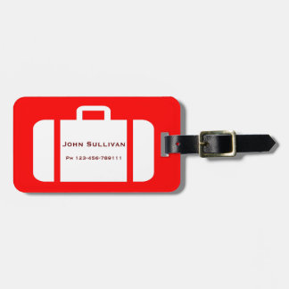 Bright Red and Yellow Distinctive Luggage Tag