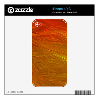 Bright red and yellow grungy background iPhone 4 skins