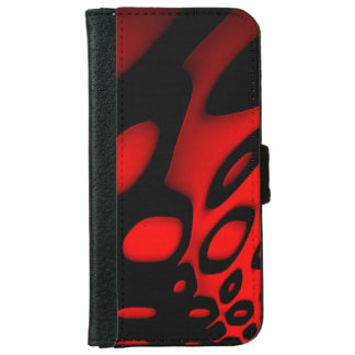 Bright Red Black Abstract iPhone6 Wallet Cases