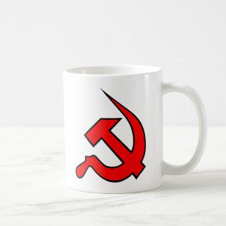 Bright Red & Black Neo-Hammer & Sickle Mug