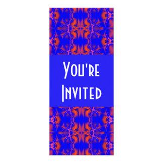 bright red blue personalized invite