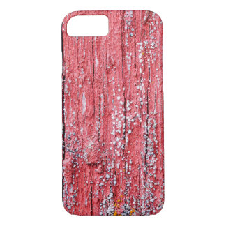 Bright red board wall with small mold growing iPhone 8/7 case