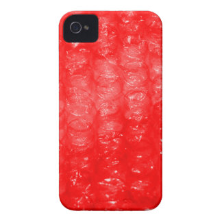 Bright Red Bubble Wrap Effect iPhone 4 Cover