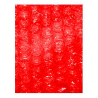 Bright Red Bubble Wrap Effect Postcard