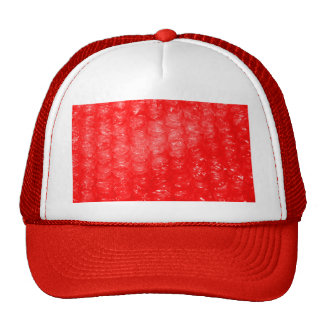 Bright Red Bubble Wrap Effect Trucker Hat