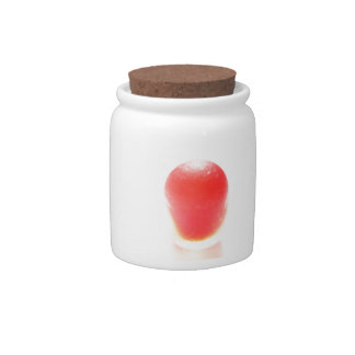 Bright Red Bullet of sea glass from Seaham Candy Jar