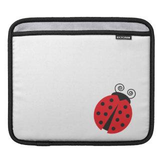 Bright Red Cartoon Ladybug iPad Sleeve