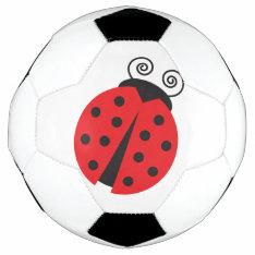 Bright Red Cartoon Ladybug Soccer Ball at Zazzle