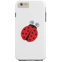 Bright Red Cartoon Ladybug Tough iPhone 6 Plus Case