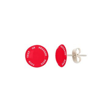 Beach Themed Bright Red Cherry Tomato - Spring 2018 London Earrings