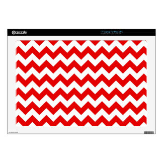 "Bright Red Chevron Zig-Zag Pattern Skin For 17"" Laptop"