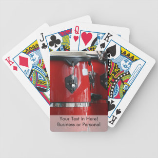 Bright red conga drums photo.jpg bicycle playing cards