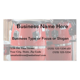 Bright red conga drums photo.jpg Double-Sided standard business cards (Pack of 100)