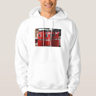 Bright red conga drums photo.jpg hooded pullover