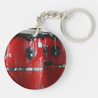 Bright red conga drums photo.jpg keychain